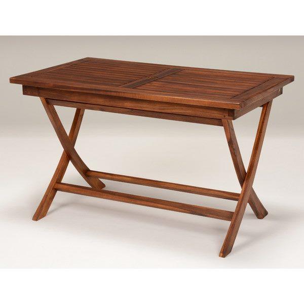ガーデンテーブル 木製 天然木 チーク材 長方形 幅120cm おしゃれ 折りたたみ式 折り畳み式