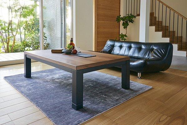 リビングこたつ センターテーブル 長方形 120x80cm 4段階高さ調節 ソファー ローソファ 座椅子対応