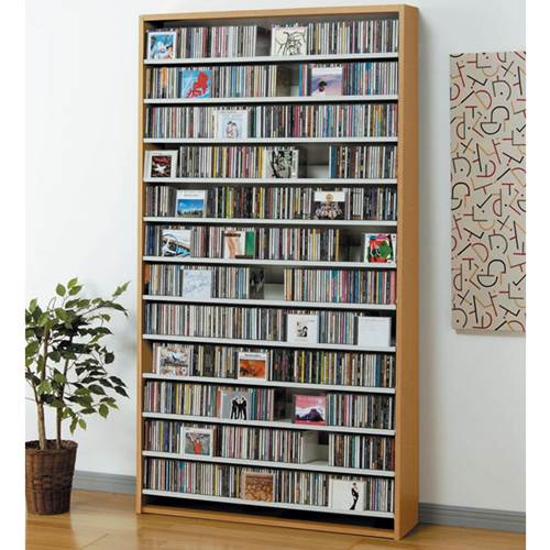 CDラック 収納棚 DVDストッカー 大容量 日本製 おしゃれ ナチュラル