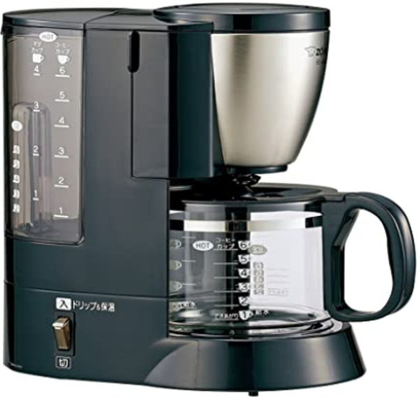象印 コーヒーメーカー EC-AS60-XB ステンレスブラック コーヒーメーカー コーヒーカップ約6杯分