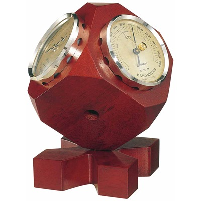 エンペックス トリオ気象計 BM-633 気圧計 温度計 湿度計 アナログ表示 EMPEX 六面体の3つの面気に気圧計・温度計・湿度計をはめこんだ卓上型
