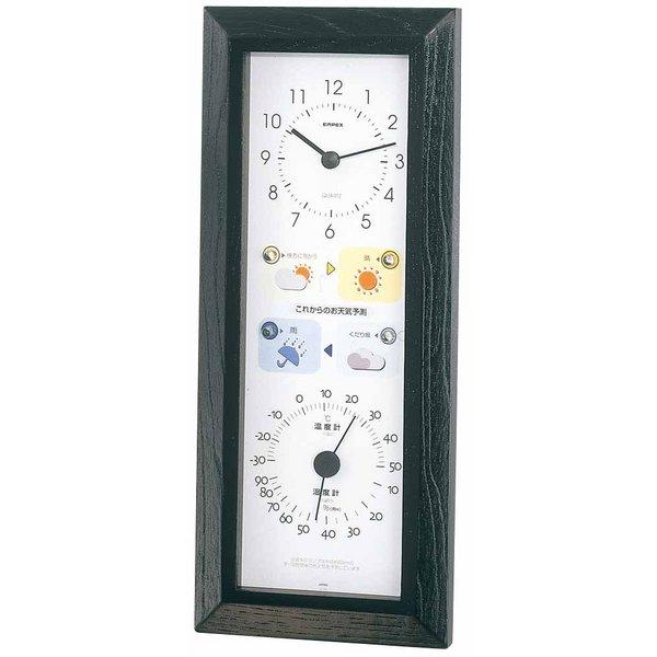 エンペックス 晴天望機・1台4役 BW-5038 天気予測 時計 温度計 湿度計 EMPEX 壁掛け時計 多機能壁掛け時計 WEARHER CLOCK