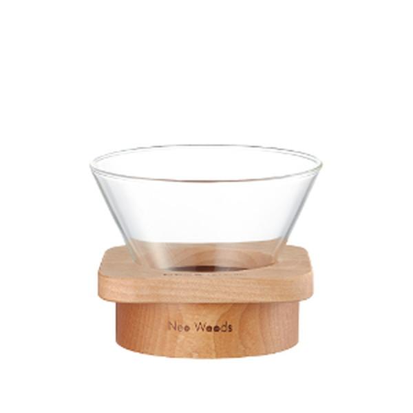コーヒードリッパー 角型 ドリップ サーバー 耐熱ガラス 天然木 カリタ&ネオウッド