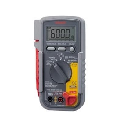 開店記念セール 日本製 CEにも対応した安全設計 電圧測定はDC1000V AC750V 電流測定はDC AC15Aまで対応 多機能 デジタル マルチメータ 三和電気計器 CD-732 抵抗 ダイオードテスト 直流電圧 静電容量 電流計 交流電圧測定 導通チェック ライン周波数測定Hz 電圧計 セール品 デューティ比