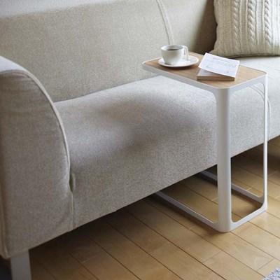 木製天板 サイドテーブル ナイトテーブル 白 ホワイト(ソファー/ソファサイドテーブル/カフェテーブル/ミニテーブル/リビング/小型)