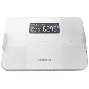 体重計 スマホ連動 体脂肪計 体組成計 内臓脂肪 デジタル オムロン ホワイト