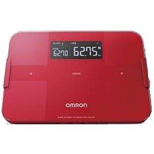 体重計 スマホ連動 体脂肪計 体組成計 内臓脂肪 デジタル オムロン レッド
