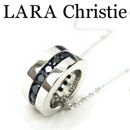 LARA Christie ララクリスティー エタニティネックレス ブラック メンズ ネックレス ブラックキュービックジルコニア シルバー925 P471-B ギフト プレゼント ジュエリー