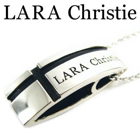 LARA Christie ララクリスティー マリンクロスネックレス ブラック メンズ ネックレス シルバー925 エナメル P3119-B ギフト プレゼント ジュエリー