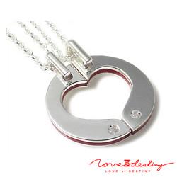 LOVE of DESTINY ペア ネックレス ダイヤモンド0.01ct シルバー950 SV950 LODN-014M014L 送料無料 ギフト プレゼント ジュエリー