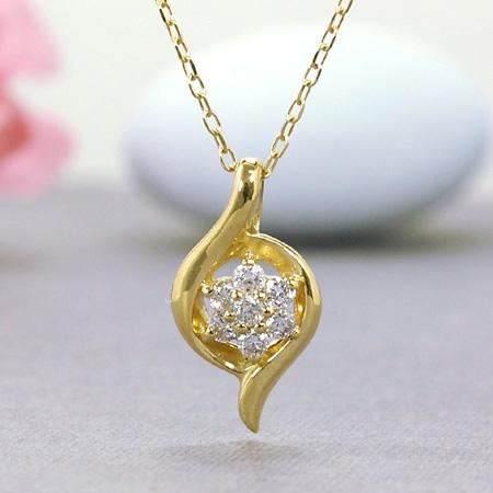 大人の雰囲気が煌びやかなネックレス K18YG ネックレス ダイヤモンド0.1ct 18金イエローゴールド 送料無料 ギフト K18YG 送料無料 ギフト プレゼント ジュエリー, 天然石ピアスマーサ:5e4b2cd6 --- sunward.msk.ru
