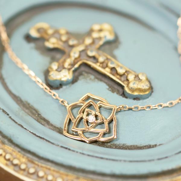 薔薇&ピンクゴールドのネックレスネックレス ダイヤモンド 18金ピンクゴールド K18PG 送料無料 送料無料 ギフト ギフト プレゼント ダイヤモンド ジュエリー, PIACERE:d7cce311 --- sunward.msk.ru