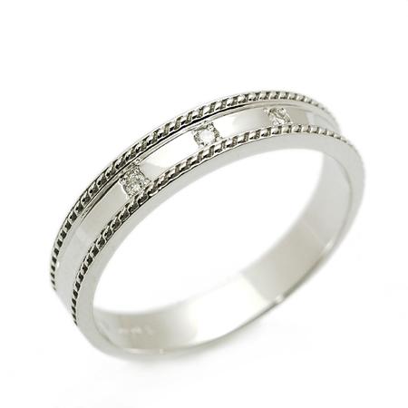 Croire クロワール ノートルファム リング ダイヤモンド 10金 ホワイトゴールド K10 WG 送料無料 ギフト プレゼント ジュエリー Xmas早割