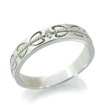 Croire クロワール ジュレファム リング ダイヤモンド 10金 ホワイトゴールド K10 WG 送料無料 ギフト プレゼント ジュエリー Xmas早割