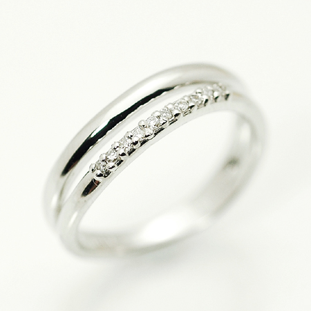 メテオール K10 ピンキー リング ダイヤモンド 10金 ホワイトゴールド K10 WG 送料無料 ギフト プレゼント ジュエリー Xmas早割