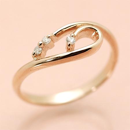 クールブ K18 ピンキー リング ダイヤモンド 18金 ピンクゴールド K18 PG 送料無料 ギフト プレゼント ジュエリー Xmas早割