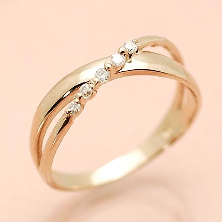 ローズブランシュ K18 ピンキー リング ダイヤモンド 18金 ピンクゴールド K18 PG 送料無料 ギフト プレゼント ジュエリー Xmas早割