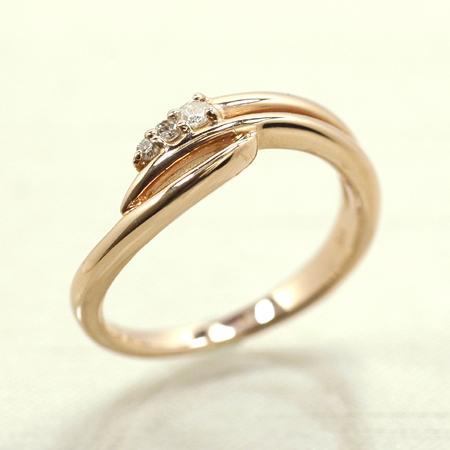 ピンキー リング ダイヤモンド 10金 ピンクゴールド K10 PG 送料無料 ギフト プレゼント ジュエリー Xmas早割