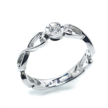 プリンセスシリーズ スノーホワイト ピンキー リング ダイヤモンド0.05ct 10金 ホワイトゴールド K10 WG 送料無料 ギフト プレゼント ジュエリー Xmas早割