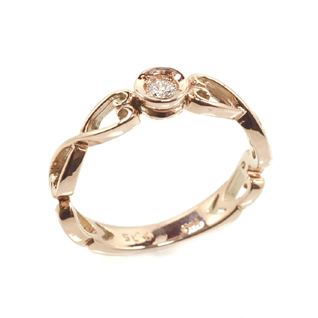 プリンセスシリーズ スノーホワイト ピンキー リング ダイヤモンド0.05ct 10金 ピンクゴールド K10 PG 送料無料 ギフト プレゼント ジュエリー Xmas早割
