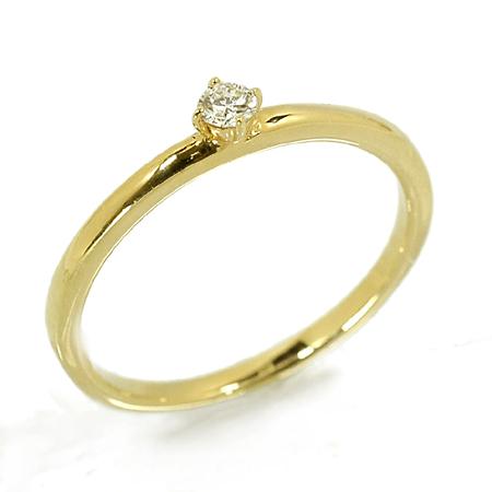 ピンキー リング ダイヤモンド0.05ct 18金 イエローゴールド K18 YG 送料無料 ギフト プレゼント ジュエリー Xmas早割