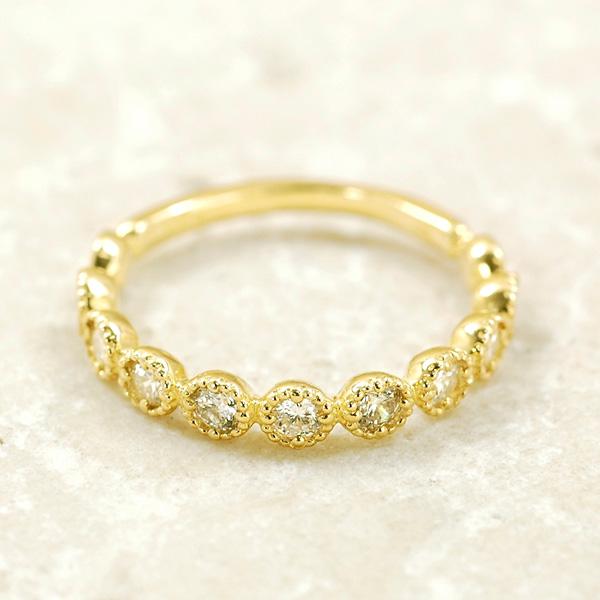 ピンキー リング ダイヤモンド0.3ct 10金 イエローゴールド K10 YG