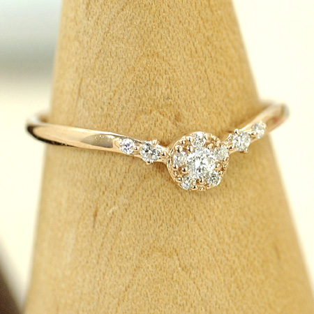 リング ダイヤモンド 10金 ピンクゴールド K10 PG 送料無料 ギフト プレゼント ジュエリー Xmas早割