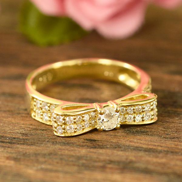 好評 ダイヤモンドを贅沢に使ったリボンリング ギフト プレゼント ダイヤモンド 18金 イエローゴールド K18 イエローゴールド YG 送料無料 ギフト プレゼント ジュエリー クーポン3000円 Xmas早割, ヒノカゲチョウ:96b4eee2 --- jagorawi.com
