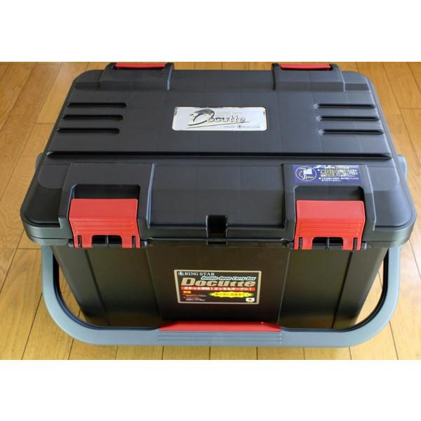 ボディーカラー マッドブラックタイプ NEW リングスター 定番スタイル 大型工具箱 ドカット レッドバックル アウトレットセール 特集 中皿が小さくなりました 本体マットブラック D-5000 蓋ブラック オリジナルカラー