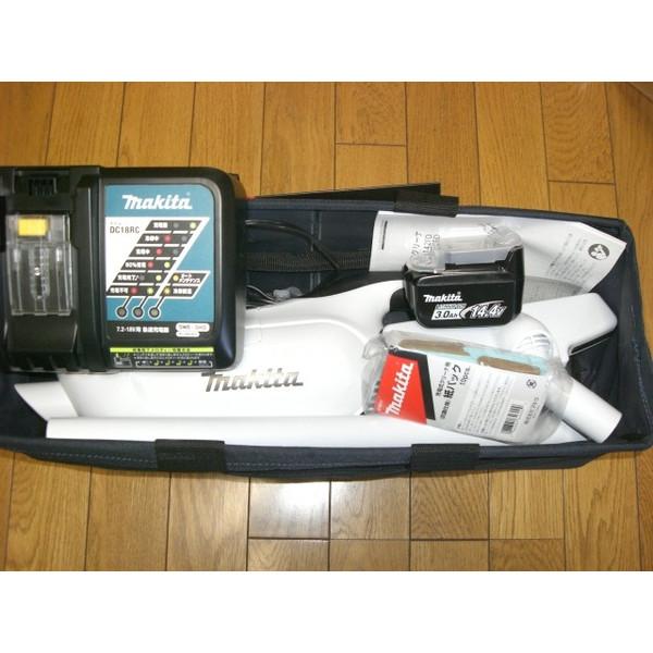 便利な収納バッグ付 マキタ 充電式クリーナ CL142FDRFW 正規品 充電器 電池付 フルセット 便利な収納バッグ付