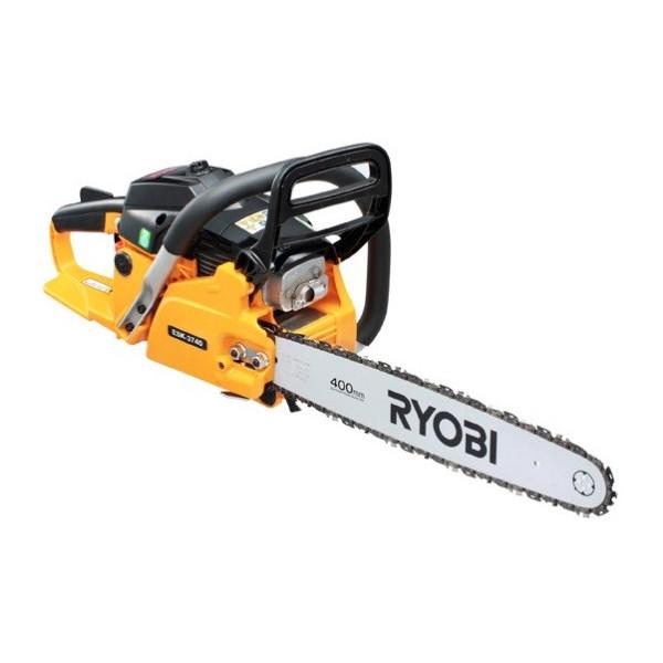 送料無料 RYOBI 【リョービ】エンジンチェンソー リヤハンドル 軽々エンジンスタート 切断長さ400mm ESK-3740