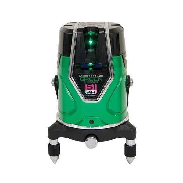 シンワ レーザーロボ グリーン 71606 Neo E Sensor 51AR 本体のみ フルライン・地墨 グリーンレーザー墨出し器