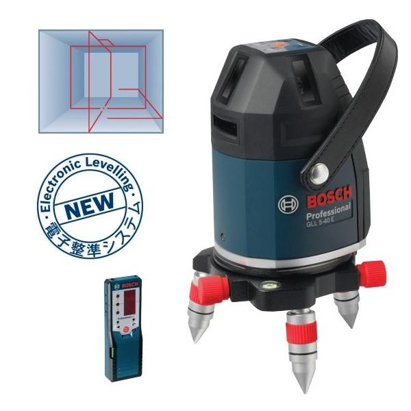 在庫有 超特価 セール ボッシュ レーザー墨出し器 GLL5-40ESET 水平、垂直4ライン、鉛直、地墨 受光器・ケース・三脚付 ★