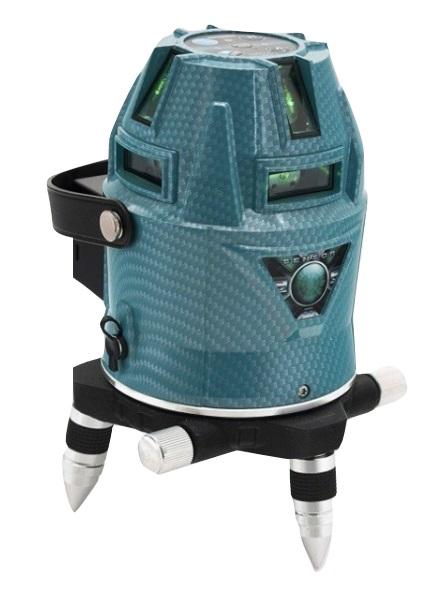 山真製鋸 レーザー墨出し器 アクアグリーンレーザー LDR-9s-W 本体+受光器+三脚 電子整準式 フルライン照射 全ラインにドット照射 YAMASHIN