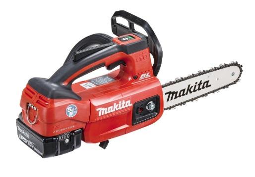 マキタ 充電式チェンソー MUC204DGXR 赤 バッテリBL1860Bx2本+充電器DC18RF付 6.0Ah ガイドバー長200mm チェーン形式 25AP-52 18V対応 makita ◇