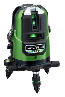 KDS 高輝度グリーンレーザー墨出器 ATL-66RG 本体のみ 高精度±1mm/10m ライン固定モード 屋外対応 4方向たち・水平ライン・地墨点・鉛直