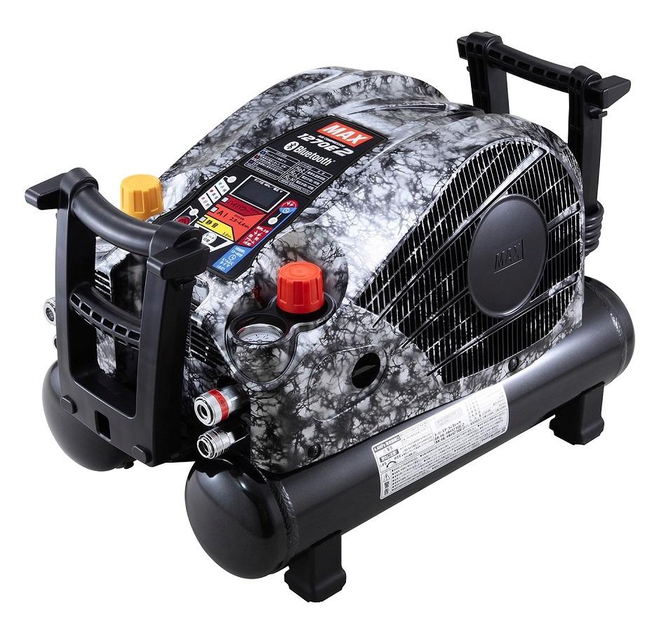 マックス 高圧エアコンプレッサ AK-HL1270E2 限定カラー ガイアシルバー ZT92150 高圧取出口2個 常圧取出口2個 タンク容量11L ブラシレスモータ1200W MAX