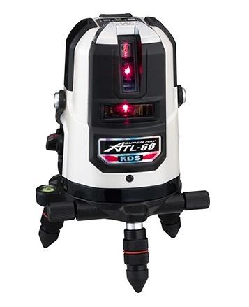 KDS 高輝度レーザー墨出器 ATL-66A 本体のみ 高精度±1mm/10m 4方向たち・水平ライン・地墨点・鉛直