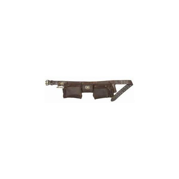 釘袋【シーエルシー】CLC 19427 腰袋 皮 オイルタン 12ポケット金 V194276