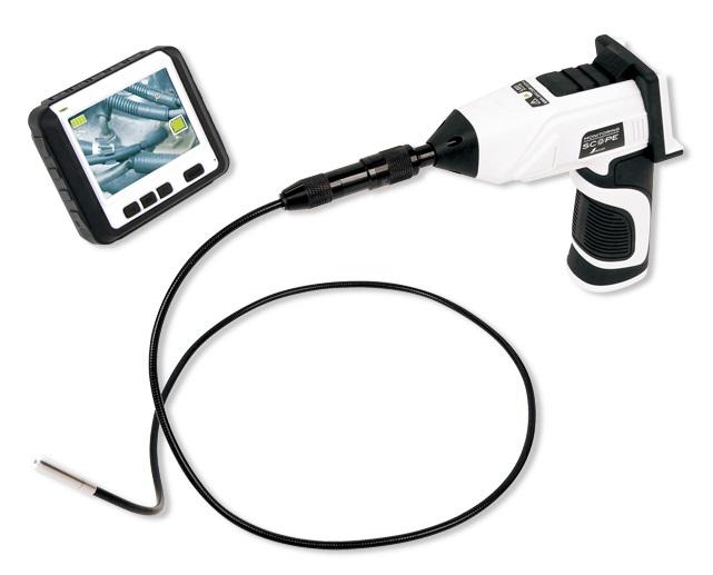 シンワ モニタリングスコープ Aφ5.8 ワイヤレス3.5インチ液晶 74172 カメラヘッド径φ5.8mm ケーブル長1m(インターロック型) LEDライト付 5段階ズーム
