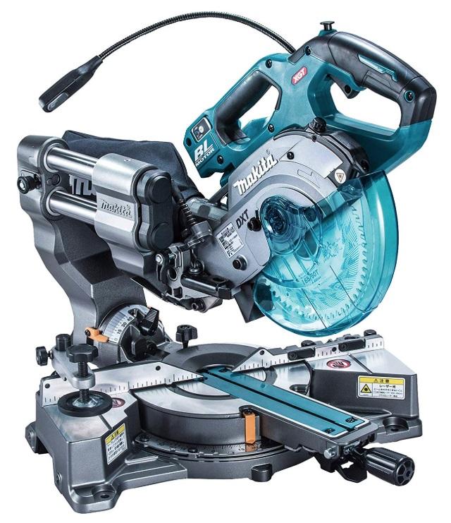 マキタ 充電式スライドマルノコ LS001GZ 本体+鮫肌チップソー付 165mm 最大切断能力:高さ46x幅182mm 左右両傾斜45°+1° 40Vmax対応 makita