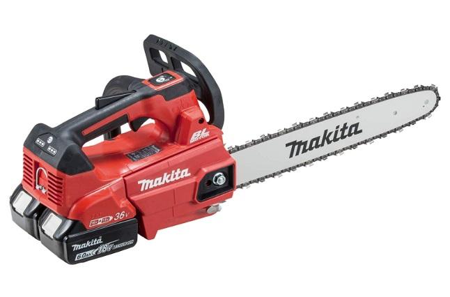 マキタ 充電式チェンソー MUC356DGFR 赤 バッテリBL1860Bx2本+2口急速充電器付 ガイドバー長350mm スプロケットノーズバー仕様 25AP-76E 18V対応 makita