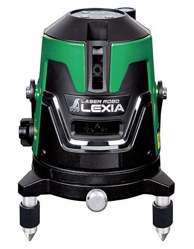 シンワ レーザー墨出し器 70841 レーザーロボ LEXIA 21 グリーン 基本の縦横タイプ 高出力レーザー グリーンレーザー墨出器