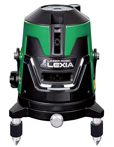 シンワ レーザー墨出し器 70842 レーザーロボ LEXIA 21P グリーン 天墨照射のグリーンタイプ 高出力レーザー グリーンレーザー墨出器