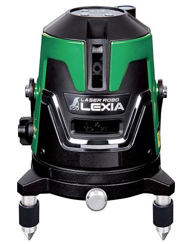 シンワ レーザー墨出し器 70844 レーザーロボ LEXIA 41 グリーン 作業に必要な基準線全てに対応の多用途タイプ 高出力レーザー グリーンレーザー墨出器