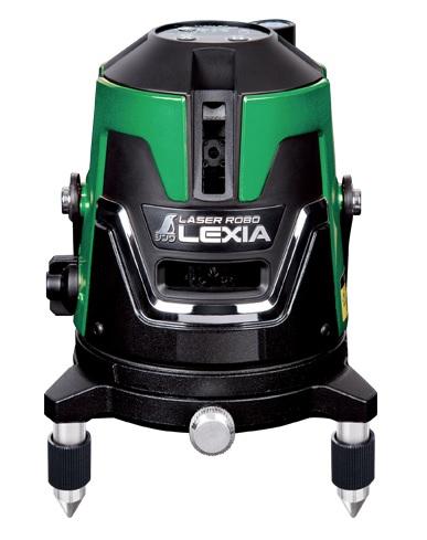 シンワ レーザー墨出し器 70845 レーザーロボ LEXIA 51 グリーン 通り芯が2本のハイクラスグリーンタイプ 高出力レーザー グリーンレーザー墨出器