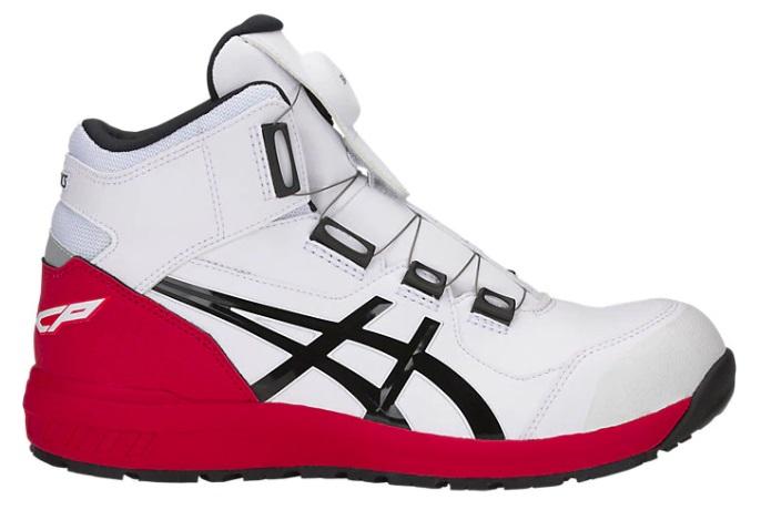 アシックス 安全靴 ウィンジョブ CP304BOA 1271A030 100 ホワイトxブラック セーフティーシューズ ウィンジョブR asics