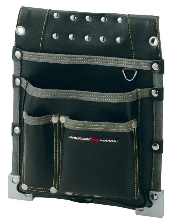 ハードな部分と機能性を追及 日本最大級の品揃え ディスカウント MEXES 仮枠釘袋 職人タイプ 大 NX-813B 腰袋 ベルト通し内側に曲尺収納可能 ネクサス ブラック メクセス