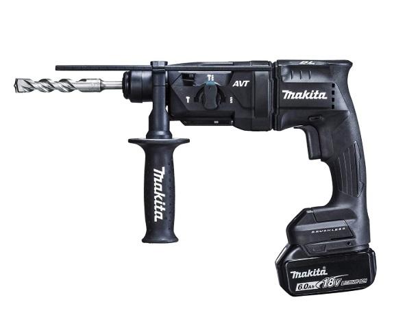 マキタ 18mm 充電式ハンマドリル HR182DRGXB 黒 バッテリBL1860Bx2本+充電器DC18RF+ケース付 SDSプラスシャンク 3モード切替 18V対応 makita