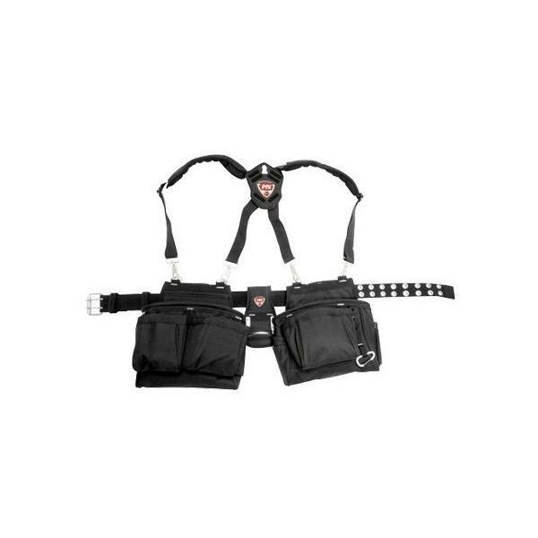 持ちやすいオープン工具袋 便利もん+ McGuire 72065-2 サスペンションリグ V494716 トゥルーバリュー Value アウトレット ROOSTER 黒 ルースター True 特売